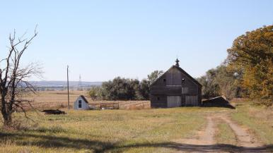 Abandoned farmstead where Jim Johanneson said he found Richard Benda's body